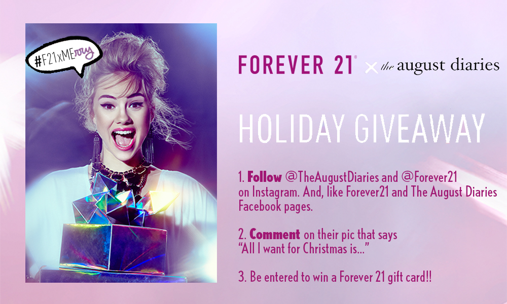 forever 21 giveaway | The August Diaries