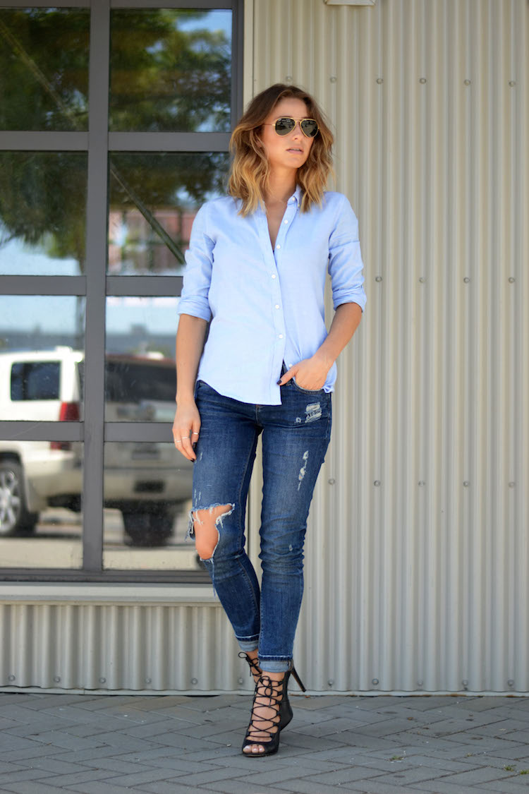 Baby blues the august diaries for Skinny jeans with shirt
