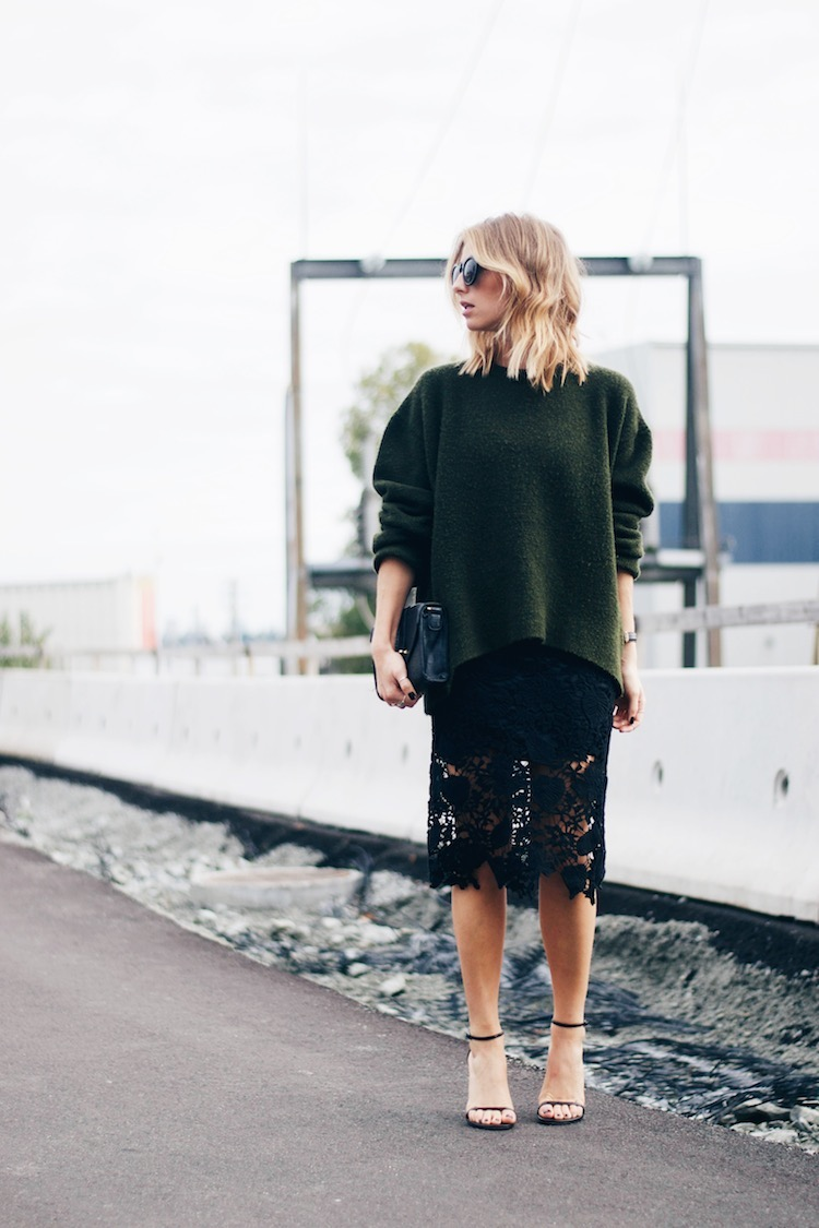 http www theaugustdiaries com lace skirt pencil sexy chic euro going out look