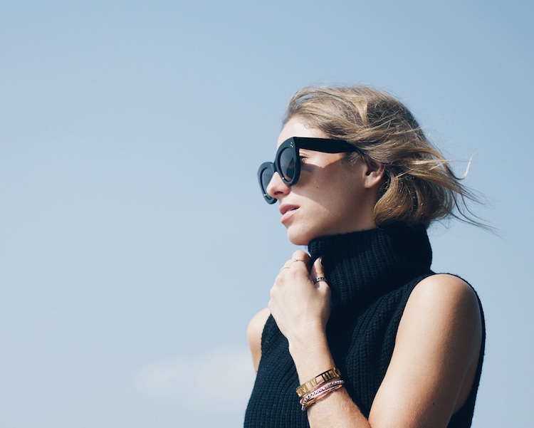 black celine sunglasses, aritzia black turtleneck