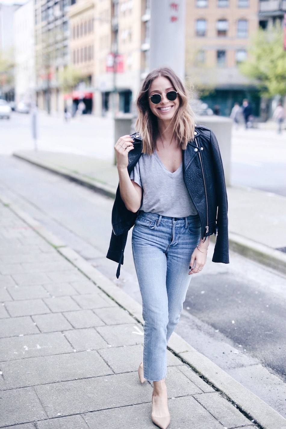 casual cool street style nude slingback