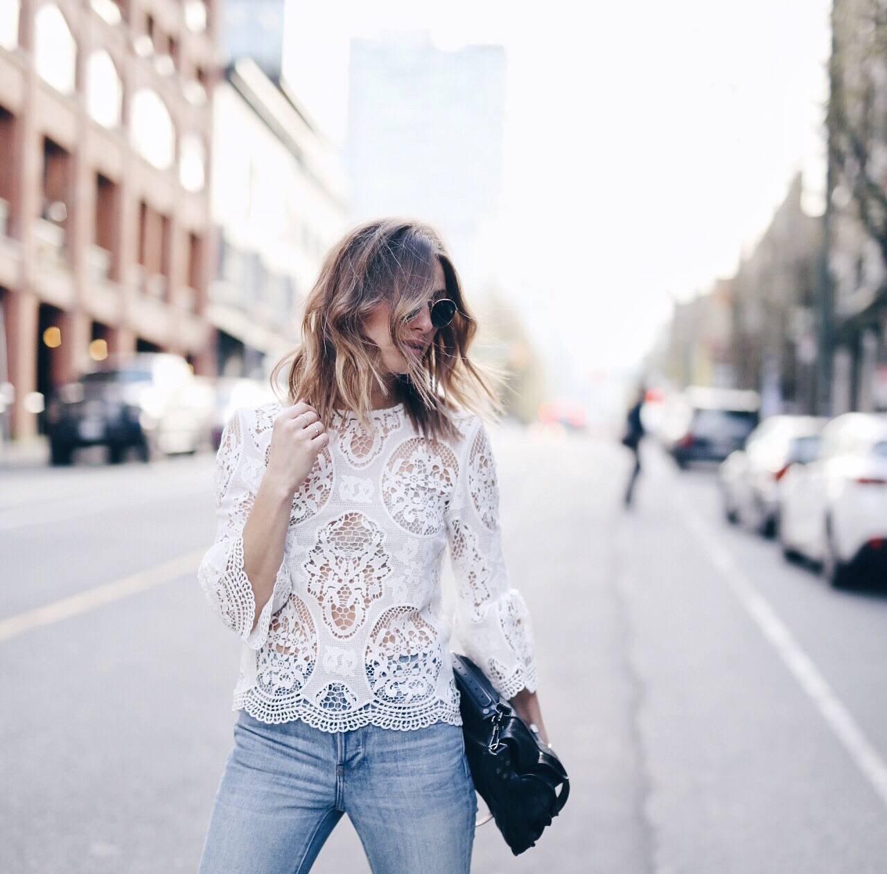 fi- lace blouse