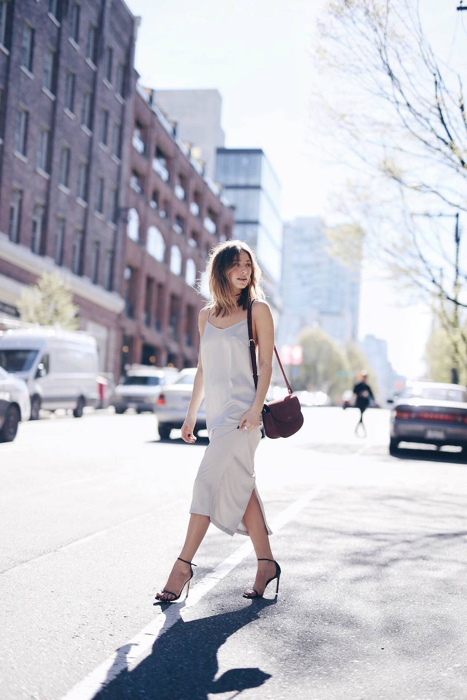 spring trend 90's slip dress
