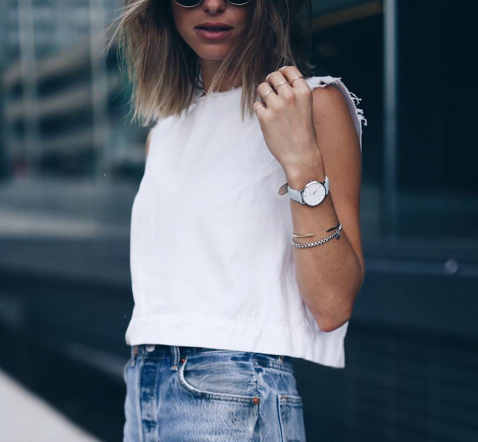 light blue cluse watch