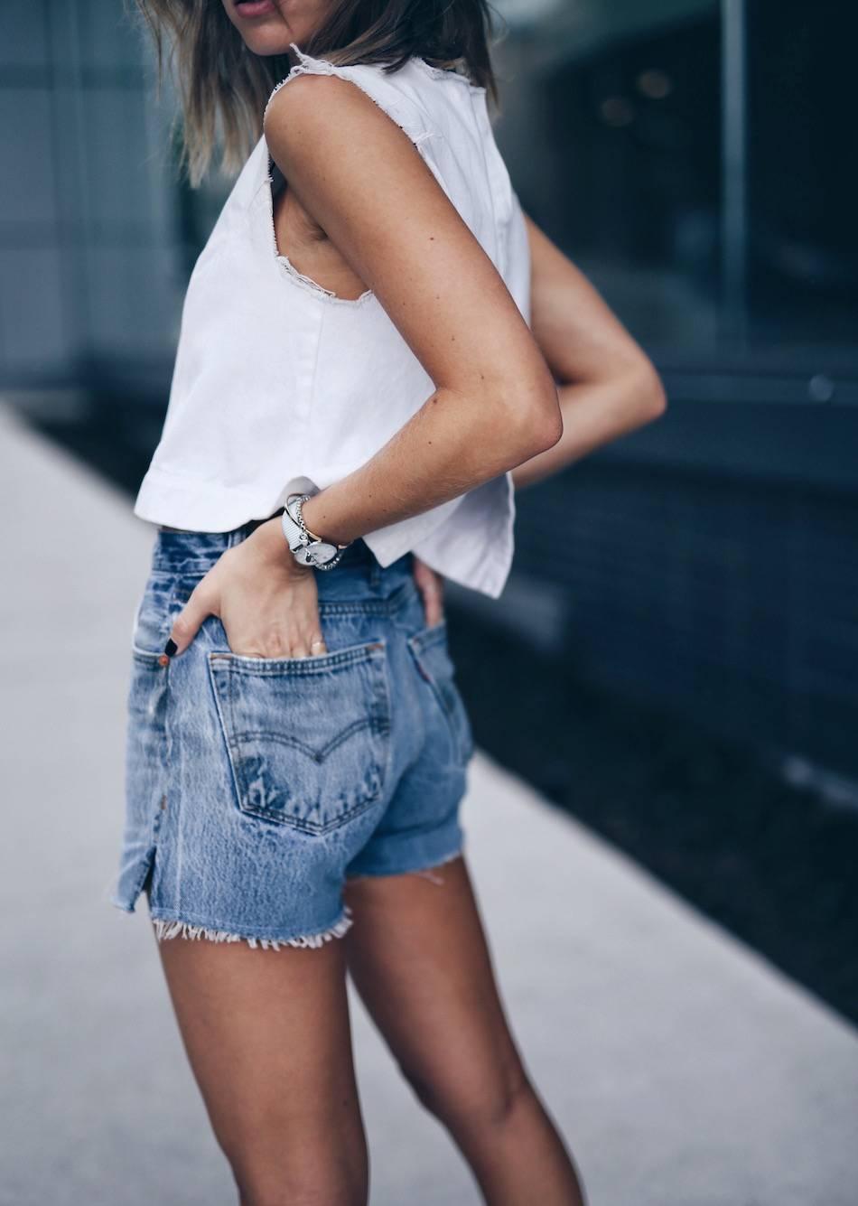 summer stories in vintage denim shorts