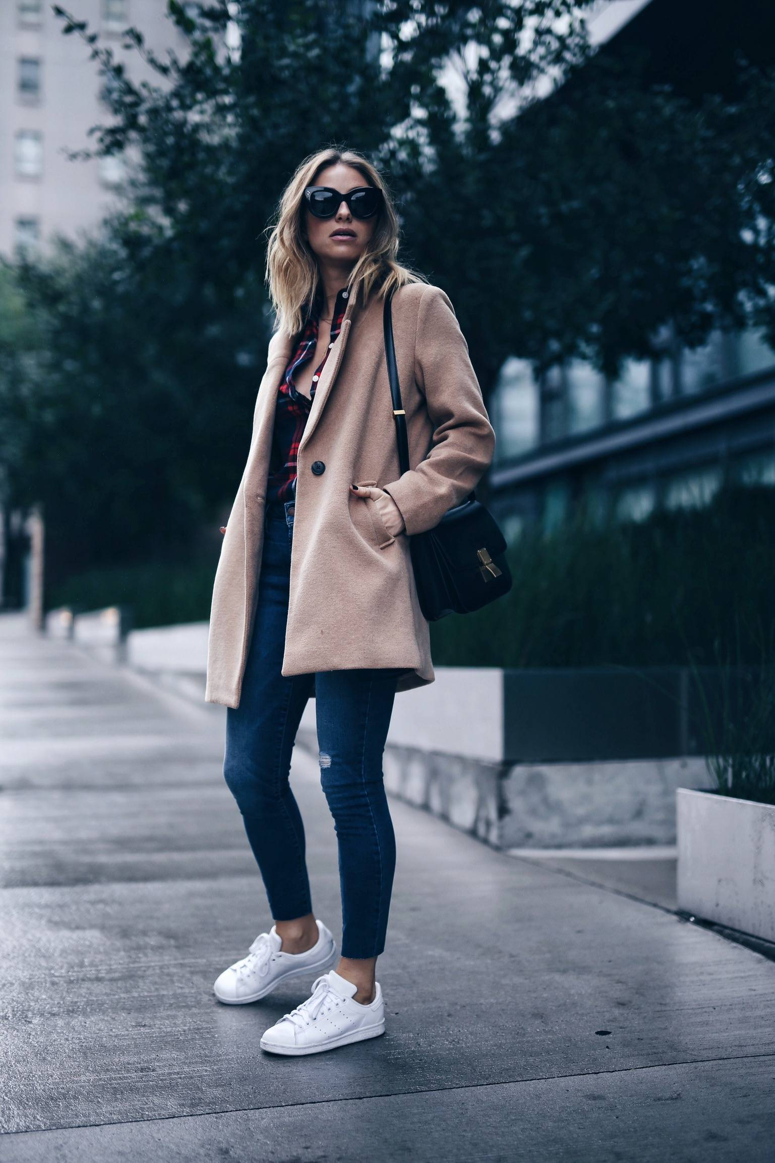 casual fall style with plaid