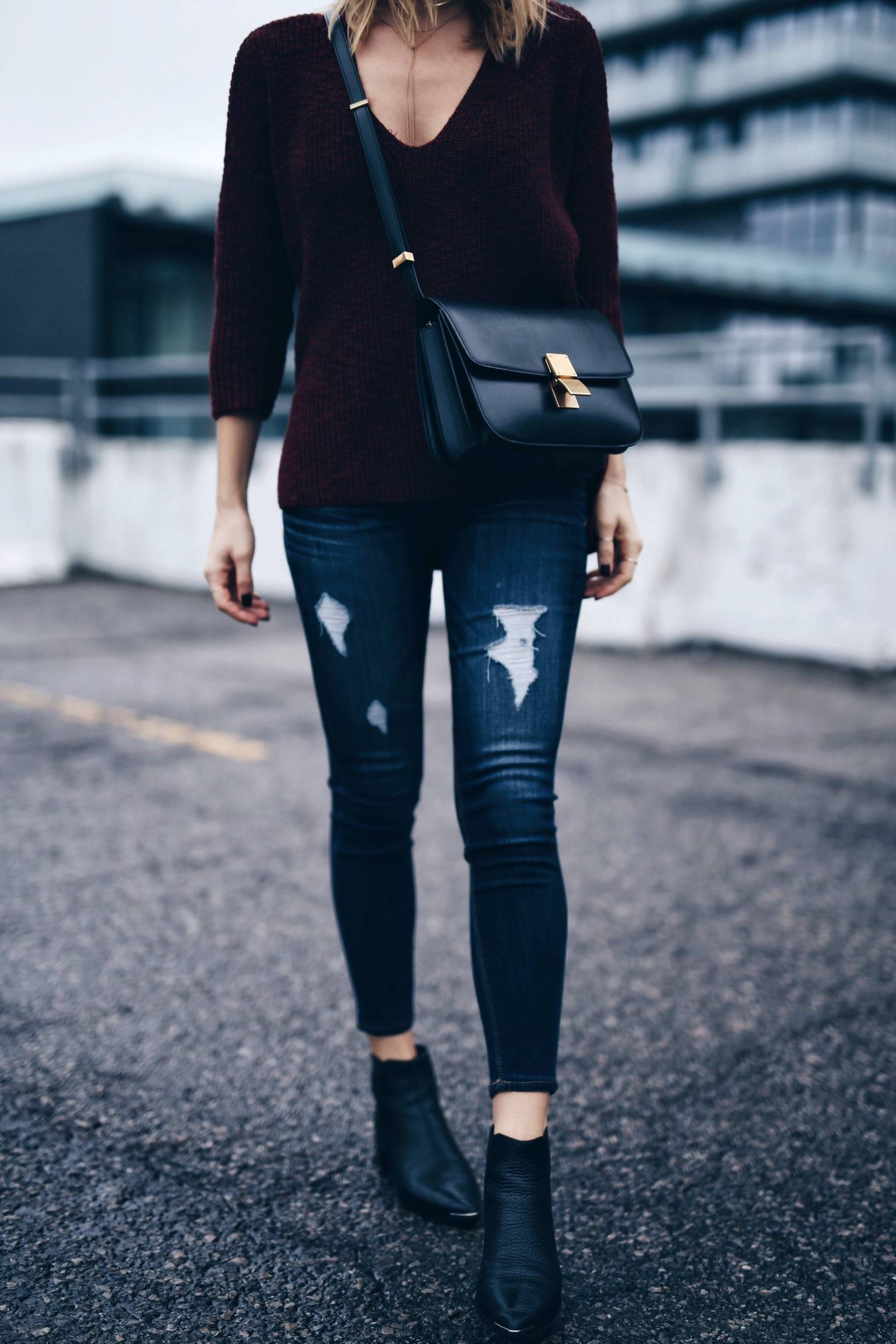 easy fall outfit, street style