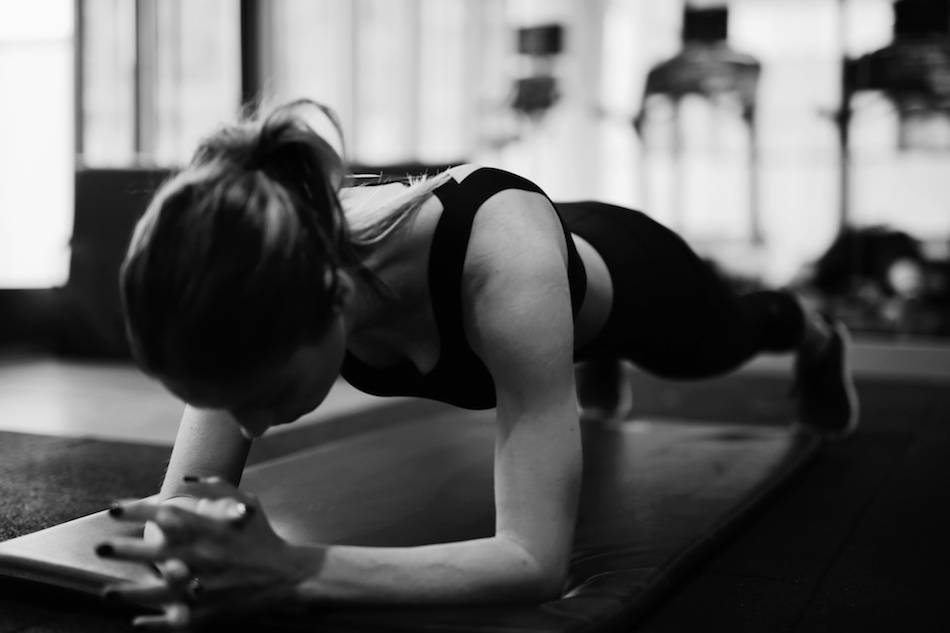 the plank fitness photography black and white