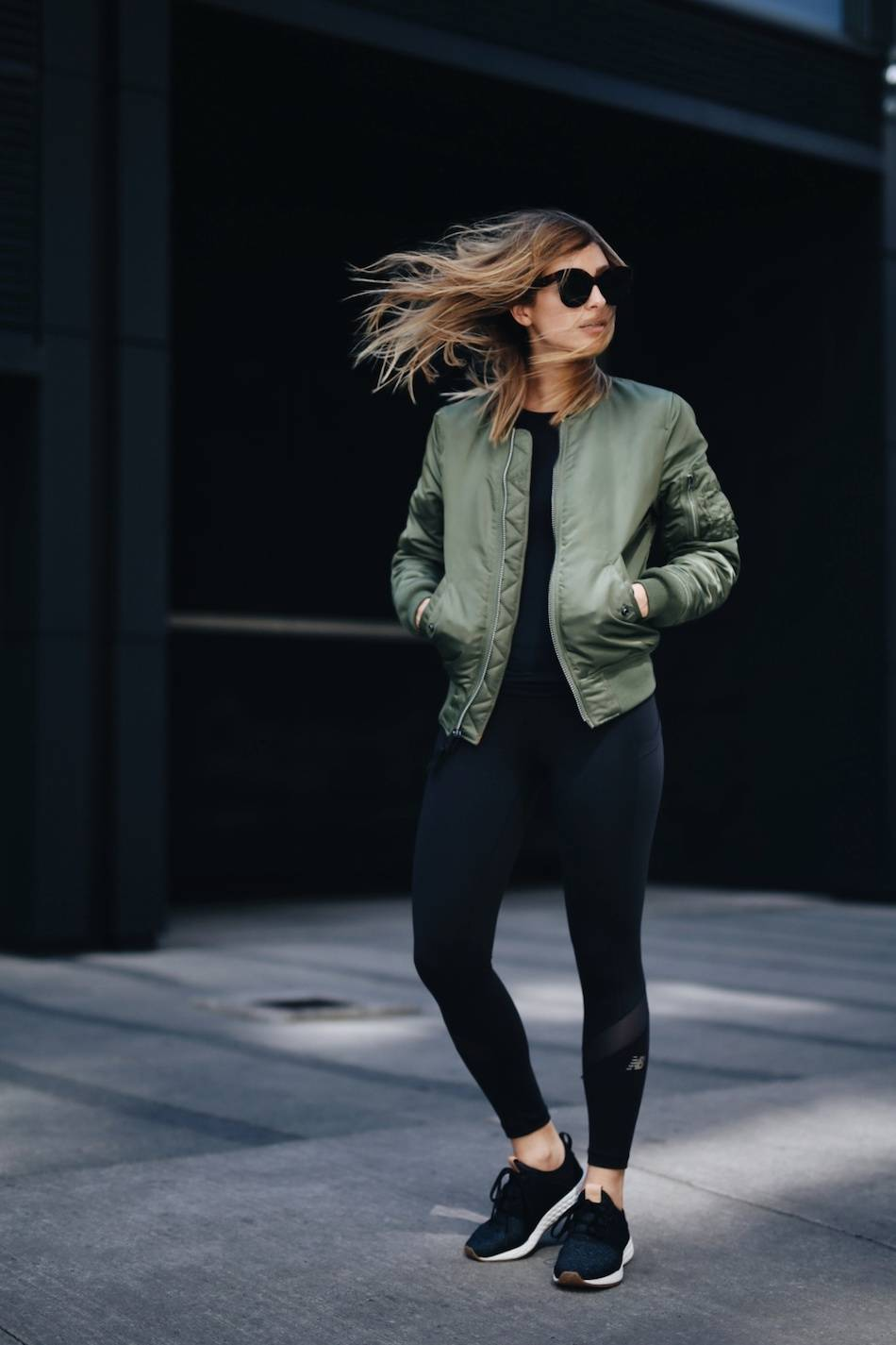 model off duty athleisure
